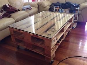Plaque De Verre Pour Table : des id es r cup pour fabriquer une table basse soi m me ~ Dailycaller-alerts.com Idées de Décoration