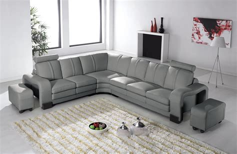 canape d angle cuire deco in 7 canape d angle en cuir gris avec appuie tete relax havane angle gauche can