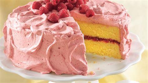 lemon cake  raspberry mousse recipe tablespooncom