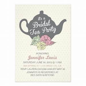 22 best images about Tea Party Bridal Shower Invitations ...