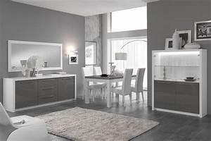 salle a manger complete blanc laque but With salle À manger contemporaine avec lit a eau