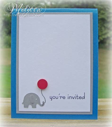 elephant invitation  gimmeink  splitcoaststampers