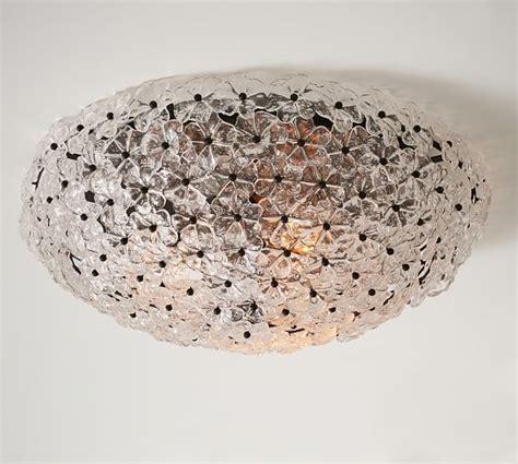 pottery barn ceiling mount lights floral oversized glass flushmount pottery barn