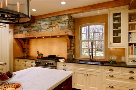 Classic French Normandy Style Kitchen-traditional