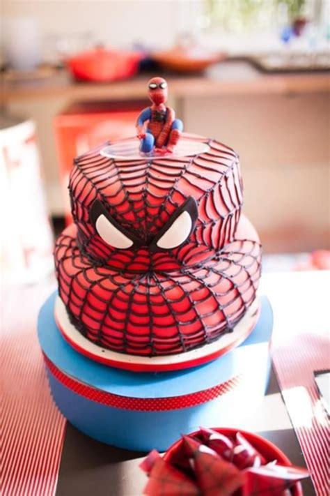 spiderman birthday decorations aranha cake homem bolo festa themed cakes karaspartyideas planning supplies kara spider infantil simples boy fazer boys