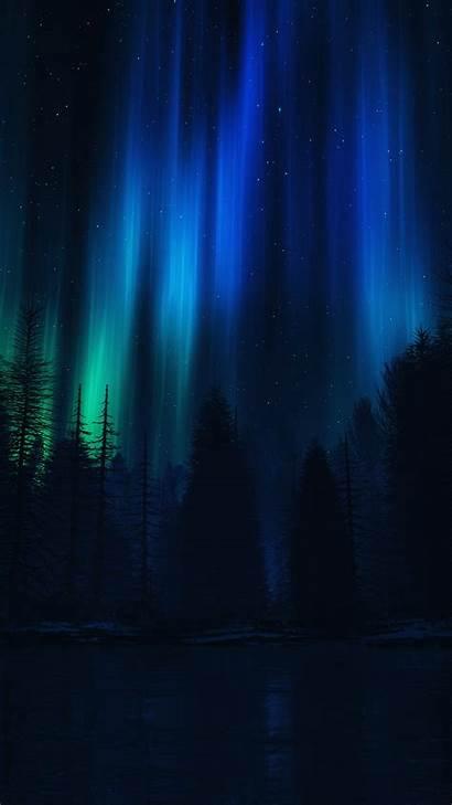 Iphone Sky Dark Night Aurora Nature Wallpapers