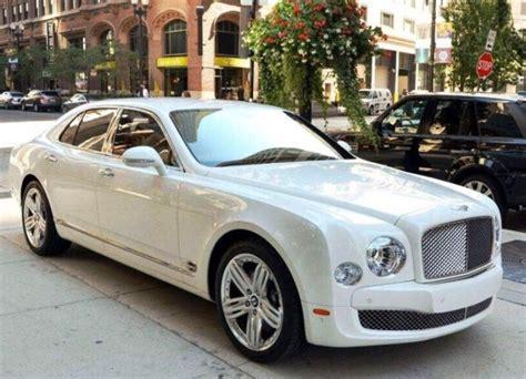 Modern White Bentley Mulsanne For Weddings