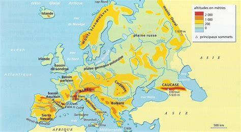 Carte Relief Europe Centrale by Le Continent Europ 233 En Ses Divisions Et Ses Limites