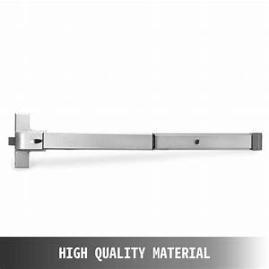 Door Push Bar Panic Exit Device With Handle Heavy Duty