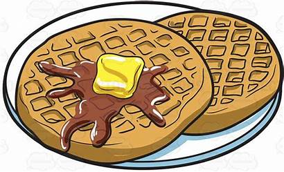 Waffle Waffles Clip Clipart Breakfast Cartoon Bar