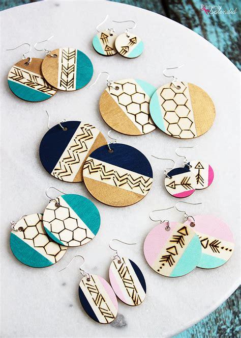 diy wood burned earrings easy  stylish handmade gift