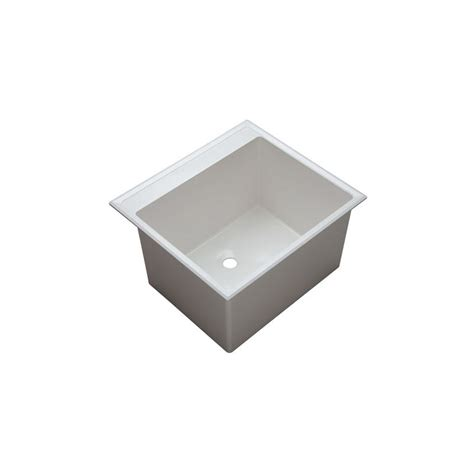 Drop In Laundry Sink With Washboard by Ukinox D610457 Single Basin Stainless Steel Dual Mount