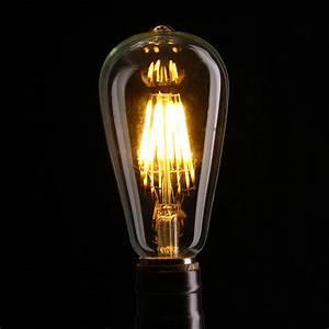 Lampe Ampoule Filament : e27 st64 8w clair couvrir dimmable edison r tro vintage filament cob led ampoule lampe ac110 ~ Teatrodelosmanantiales.com Idées de Décoration