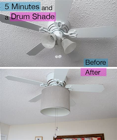 add a drum shade to your ceiling fan in 5 minutes
