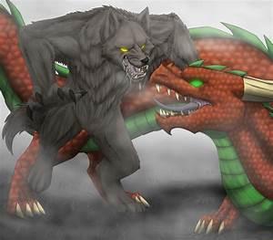 Werewolf Vs Dragon by Lifefantasyx on DeviantArt