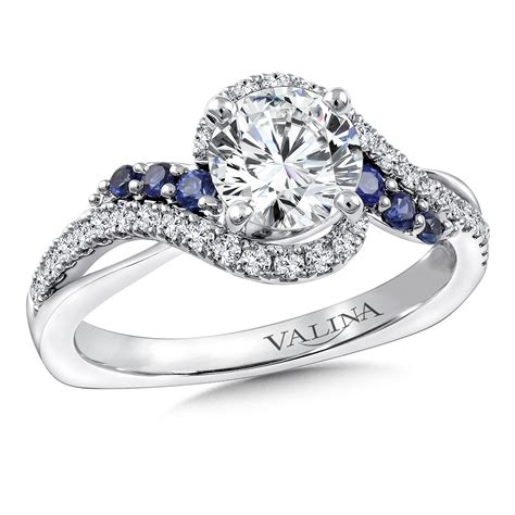 Valina  Diamond & Blue Sapphire Engagement Ring Mounting. Audrey Rose Rings. Spinner Wedding Rings. German Style Engagement Rings. Colourful Wedding Wedding Rings. Heart Design Engagement Rings. Replica Wedding Rings. Wolf Wall Street Engagement Rings. Telephone Rings