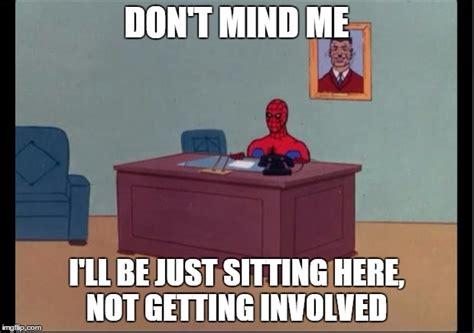 spider man desk imgflip