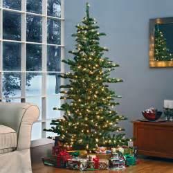 Downswept Christmas Tree by Woodland Slim Pre Lit Christmas Tree At Hayneedle