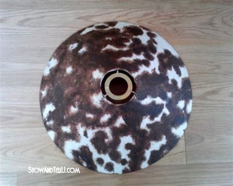 How To Sew Cowhide by How To Make A Faux Cowhide L Shade