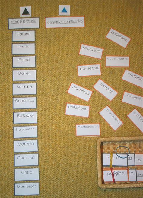nomi derivati da porta psicogrammatica montessori aggettivi derivati da nomi propri