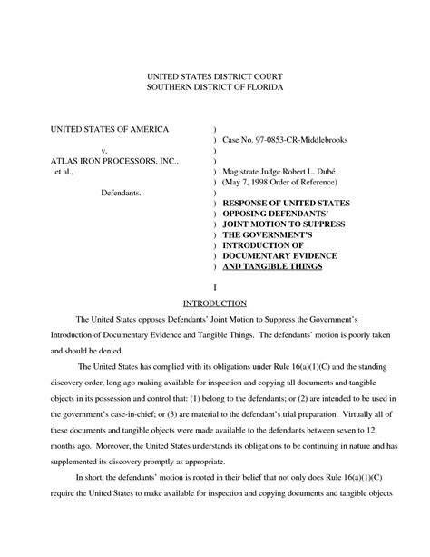 Motion In Limine Template by Best Photos Of Exle Of A Court Motion Court Motion