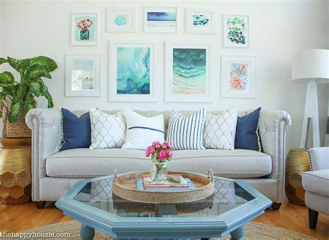 Living Room Makeover by Living Room Makeover Reveal The Happy Housie