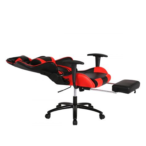 red racing gaming chair high  computer recliner office