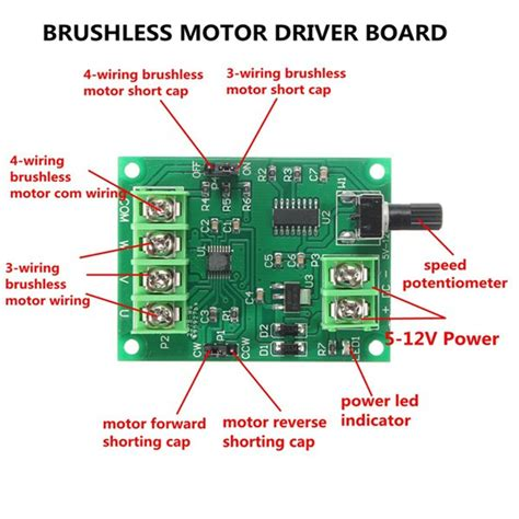 Jaguar Motor Controller Wiring by 5v 12v Dc Brushless Motor Driver Board Controller For