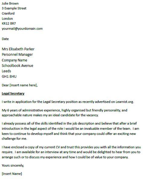 application letter  secretary