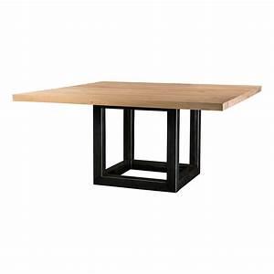 Table Carree Chene : table carr e sanary en ch ne pieds cube for me lab ~ Teatrodelosmanantiales.com Idées de Décoration