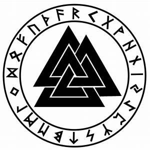 Futhark Valknut Decal   Asatru and Heathen Stickers and Decals