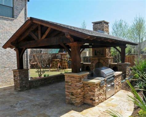 rustic cedar gable outdoor kitchen outdoor pinterest