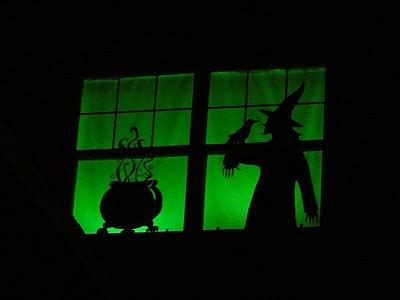 ideas  decorate windows  silhouettes  halloween