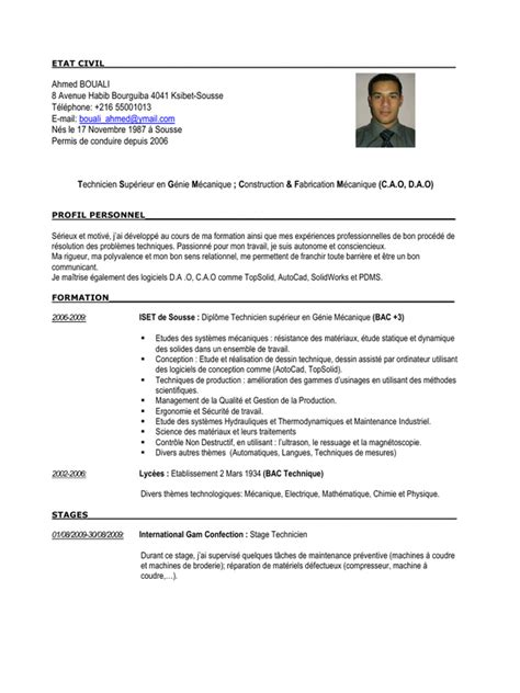 Highlevel Technician In Mechanical Engineering