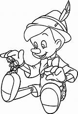Pinocchio Coloring Disney Wecoloringpage Drawing Boys Drawings Characters sketch template