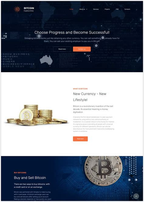 Although cryptocurrencies have been around for quite some time (bitcoin saw the light in 2009), the. 16+ Best Cryptocurrency & Bitcoin Website Templates 2018 - Templatefor