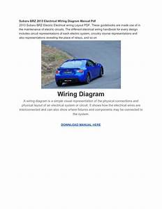 Subaru Brz 2013 Electrical Wiring Diagram Manual Pdf