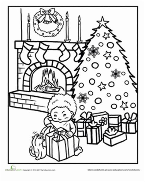 color  christmas eve scene worksheet educationcom