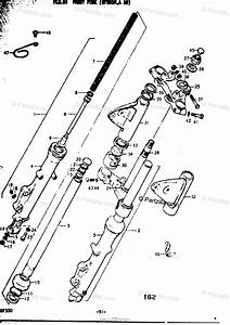 Suzuki Motorcycle 1977 Oem Parts Diagram For Front Fork