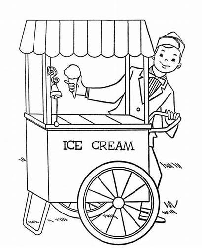 Ice Cream Coloring Pages Stand Parlor Printable