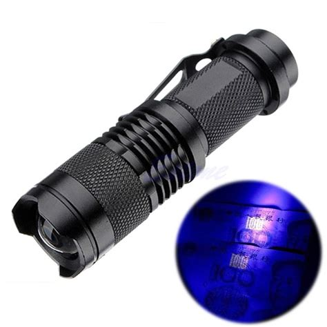 how to make a black light flashlight zoomable led uv flashlight torch light ultra violet light