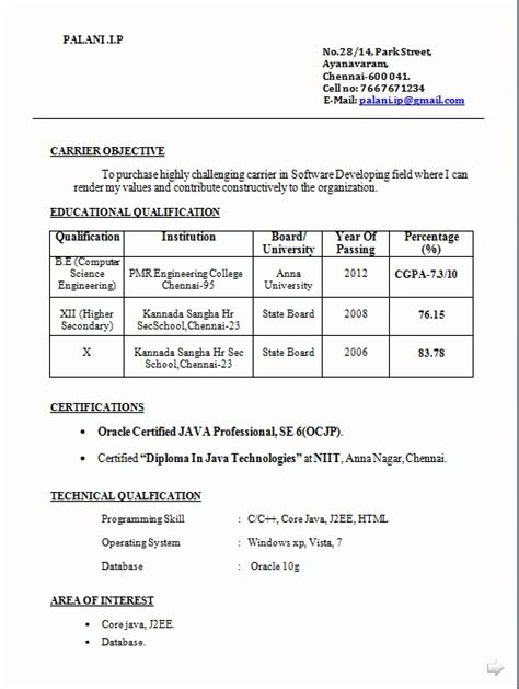 Diploma Mechanical Engineering Resume Format For Fresher by 48 Best Of Photos Of Mechanical Fresher Resume Format Resume Sle Format Resume Sle Format