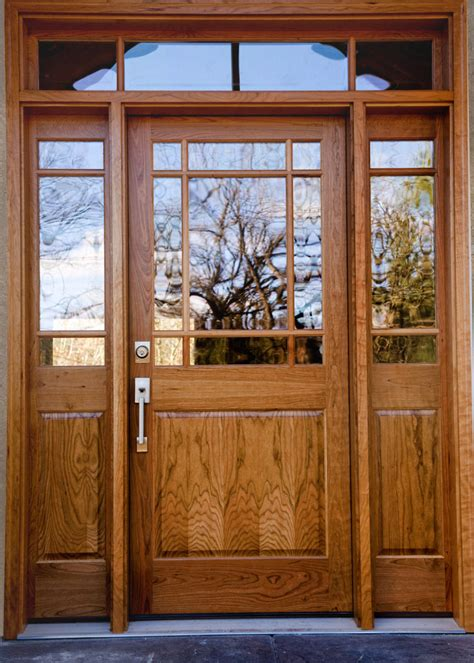 cherry wood entry door heritage millwork  ramsey