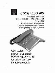 Mode Demploi T U00e9l U00e9phone Doro Congress 205
