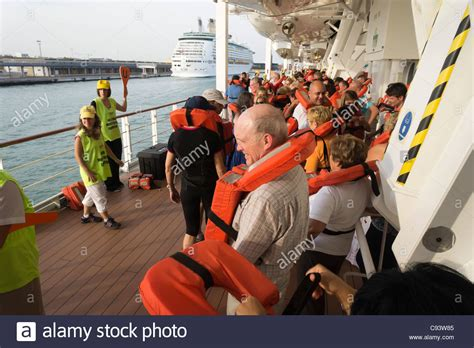 MSC Armonia Cruise Ship - Life Jacket Safety Drill On First Day Of Stock Photo 40038325 - Alamy
