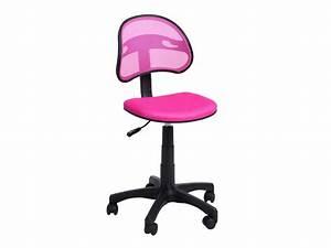 Chaise Pour Bureau : chaise dactylo azalie coloris rose vente de fauteuil de bureau conforama ~ Teatrodelosmanantiales.com Idées de Décoration