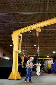 Gorbel 1 Ton Fs300 Freestanding Jib Crane 20 Ft Span 20 Ft