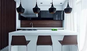 Schwarze Hochglanz Küche : welche farbe f r k che 85 ideen f r fronten und wandfarbe ~ Frokenaadalensverden.com Haus und Dekorationen
