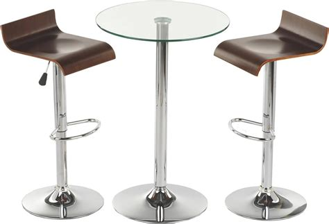what is a two top table this glass high top table and chairs is modern furniture