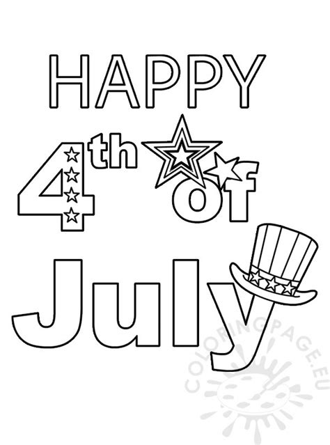 fourth  july coloring worksheet coloring page
